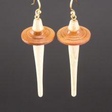 Drop Spindle Earring - Paela wood