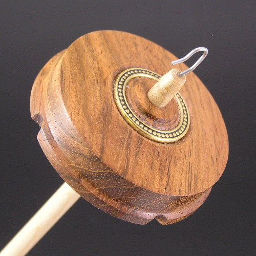 Jatoba with decorative ring drop spindle #613