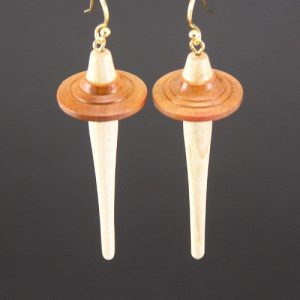 Drop Spindle Earring - Paela wood