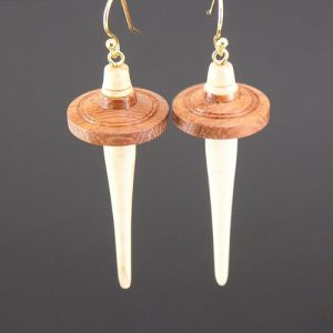 Partridge Drop Spindle Earrings #619