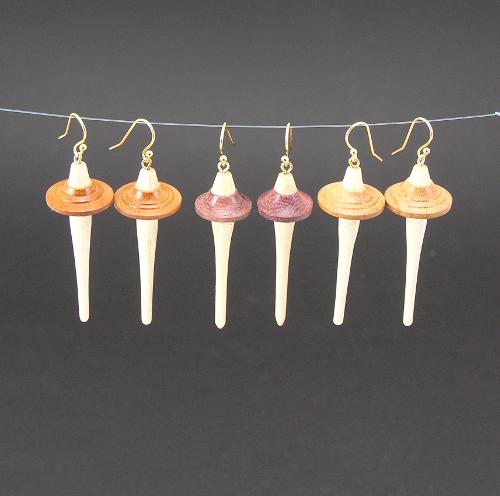 Drop spindle earrings group