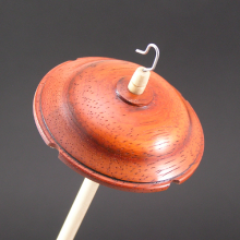 Padauk drop spindle #423
