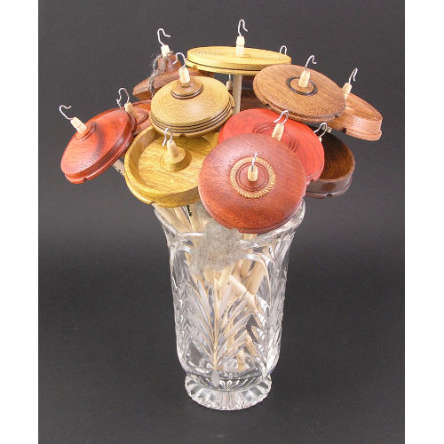 Bouquet of drop spindles by True Creations www.tcturning.com