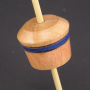 Micro (Tahkli) Support Spindle - Cherry - Blue Stripe - #601