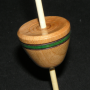 Micro (Tahkli) Support Spindle - Cherry - Green Stripe - #603