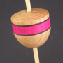 Micro (Tahkli) Support Spindle - Cherry - Pink Stripe - #602