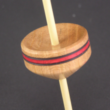 Micro (Tahkli) Support Spindle - Cherry - Red Stripe - #604