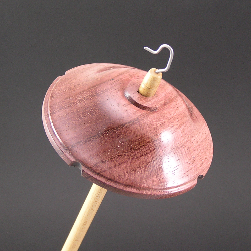 Purpleheart drop spindle