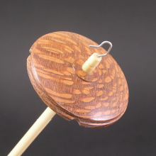 Drop Spindle Lacewood whorl