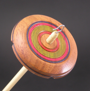Drop Spindle Partridge whorl with colored rings