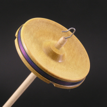 Drop Spindle Yellowheart whorl with blue band