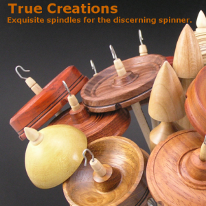True Creations Exquisite Spindles displayed in a vase like flowers.