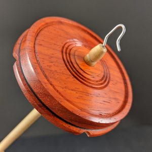 804 Padauk Drop Spindle - mini