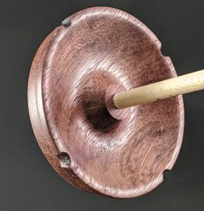 Drop Spindle #905 - Purpleheart - Underside