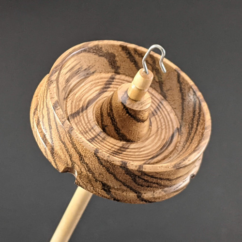 415 Drop Spindle Standard Zebrawood